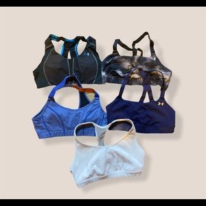 5 bras included, under armour, LOLE, les mills